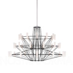 Moooi Coppélia Small Matte Black LED Suspension Light Fixture with 36 Lamps