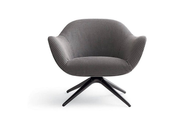Poliform Mad Armchair by Marcel Wanders in Velvet or Fabric Covering & Wood Legs For Sale 2
