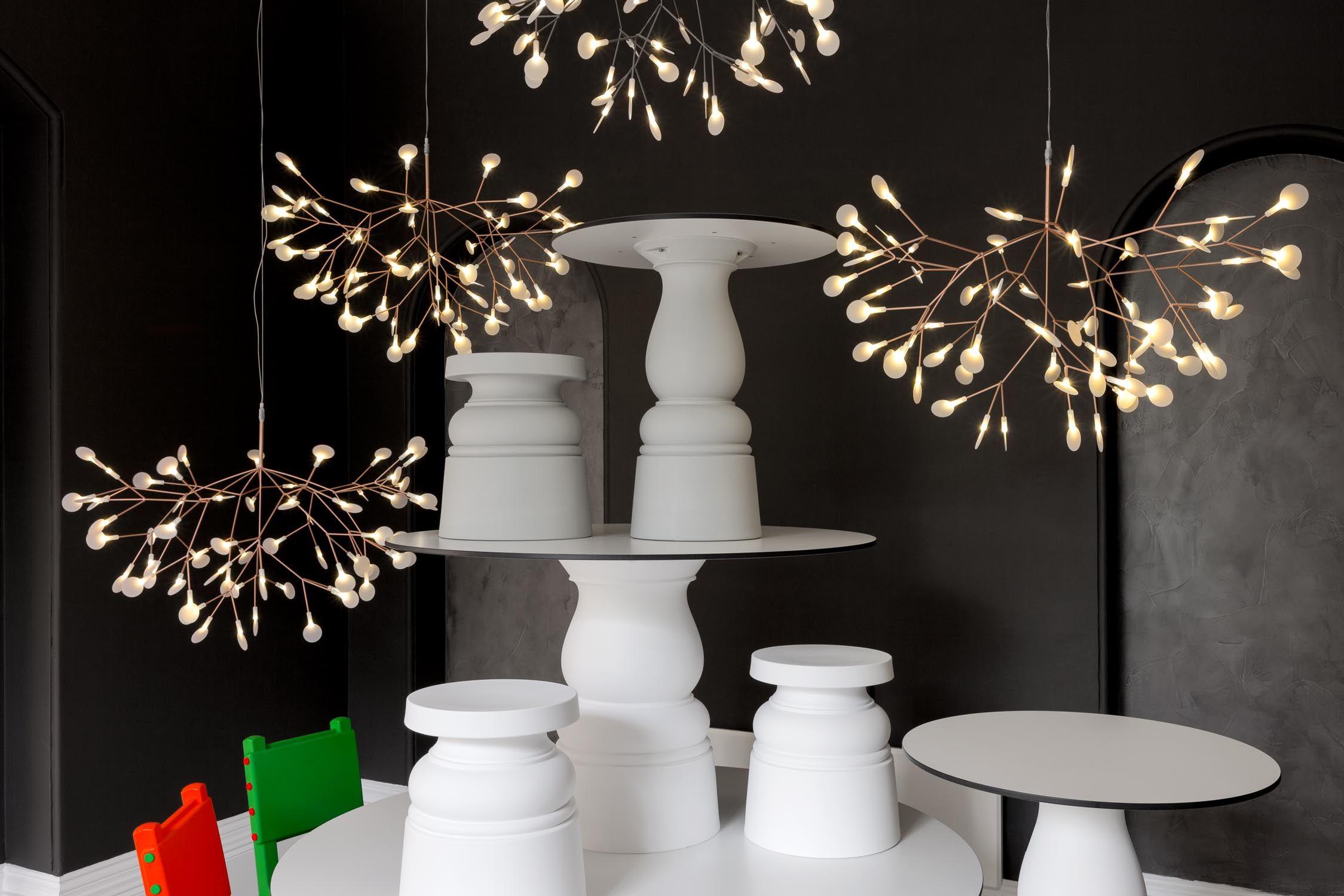 moooi heracleum ii suspension led light fixture in copper or nickel