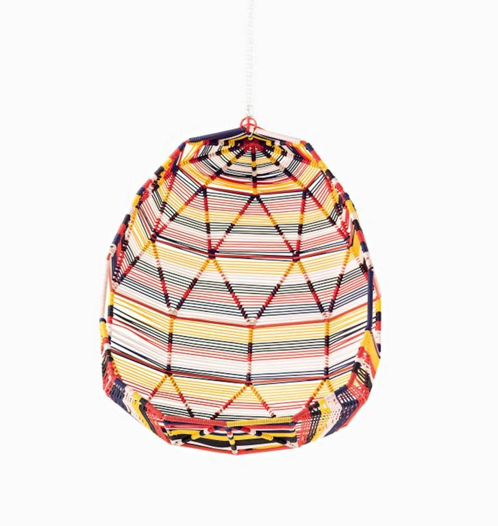 Moroso Tropicalia Cocoon Swing in Multi-Colored Polymer for Outdoor Use 4