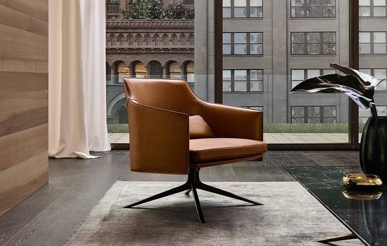 Poliform Stanford Low Back Armchair by Jean-Marie Massaud 5