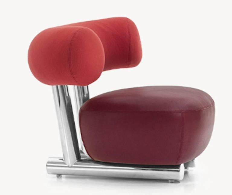 Contemporary Pipe Chair by Sebastian Herkner for Moroso For Sale
