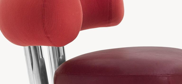 Upholstery Pipe Chair by Sebastian Herkner for Moroso For Sale