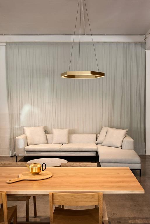 HEX Pendant Light by Resident in Brass, Black or White For Sale 3