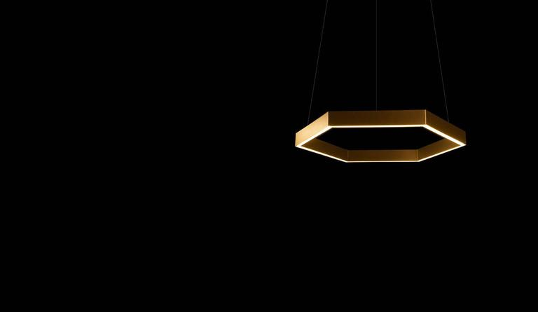 New Zealand HEX Pendant Light by Resident in Brass, Black or White For Sale