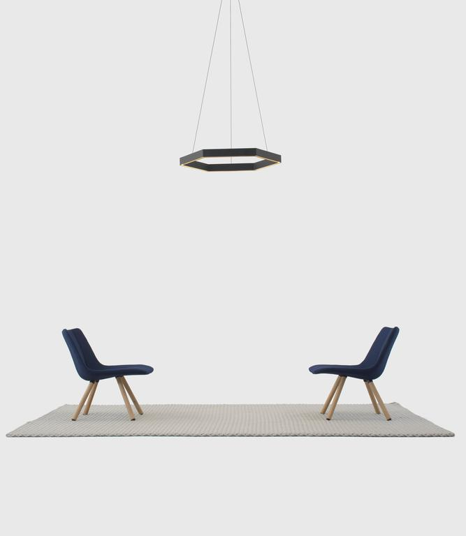 HEX Pendant Light by Resident in Brass, Black or White For Sale 2