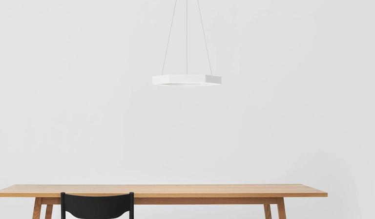 HEX Pendant Light by Resident in Brass, Black or White For Sale 1