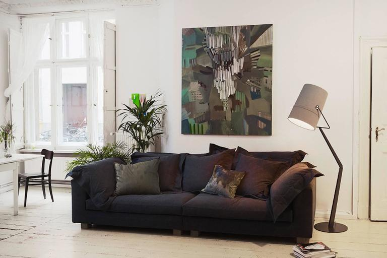 Leather Nebula Nine Sofa by Moroso with Goose Down Cushions For Sale