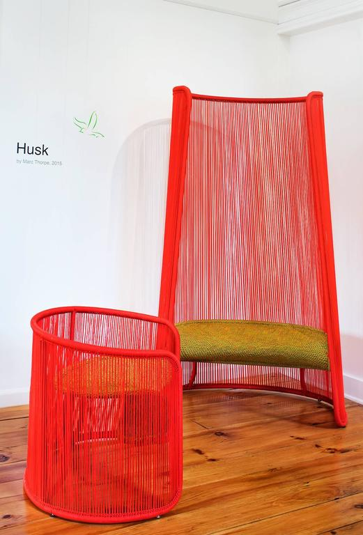 Husk Chair by Marc Thorpe for Moroso for Indoor and Outdoor In New Condition For Sale In Rhinebeck, NY