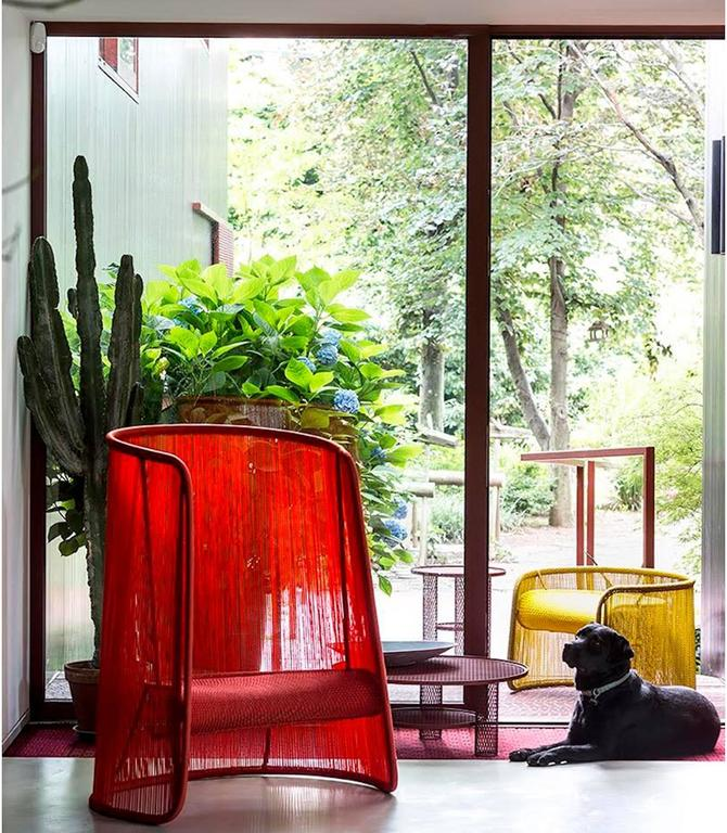 Modern Husk Chair by Marc Thorpe for Moroso for Indoor and Outdoor For Sale