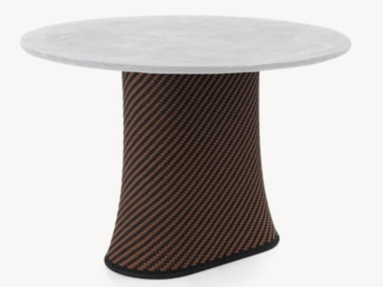 moroso baobab occasional tables in handwoven thread and concrete by marc thorpe for sale at 1stdibs. Black Bedroom Furniture Sets. Home Design Ideas