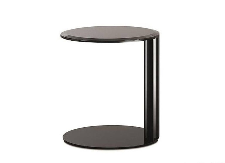 Oto Mini Coffee And Side Tables In Back Painted Glass By Gallotti And Radice For Sale At 1stdibs
