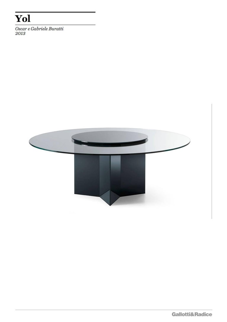 Gallotti And Radice Yol Round Dining Table In Painted