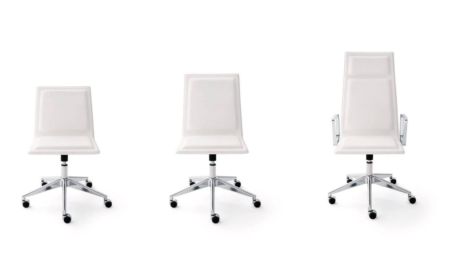 Modern OFX 09 Ergonomic Office Chair With Or Without Castors By Gallotti U0026  Radice For Sale