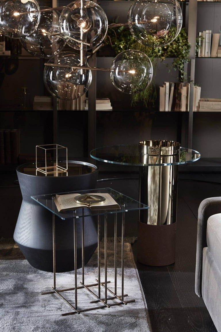 Modern Dama Side Table in Solid Wood and Marble by Gallotti & Radice For Sale