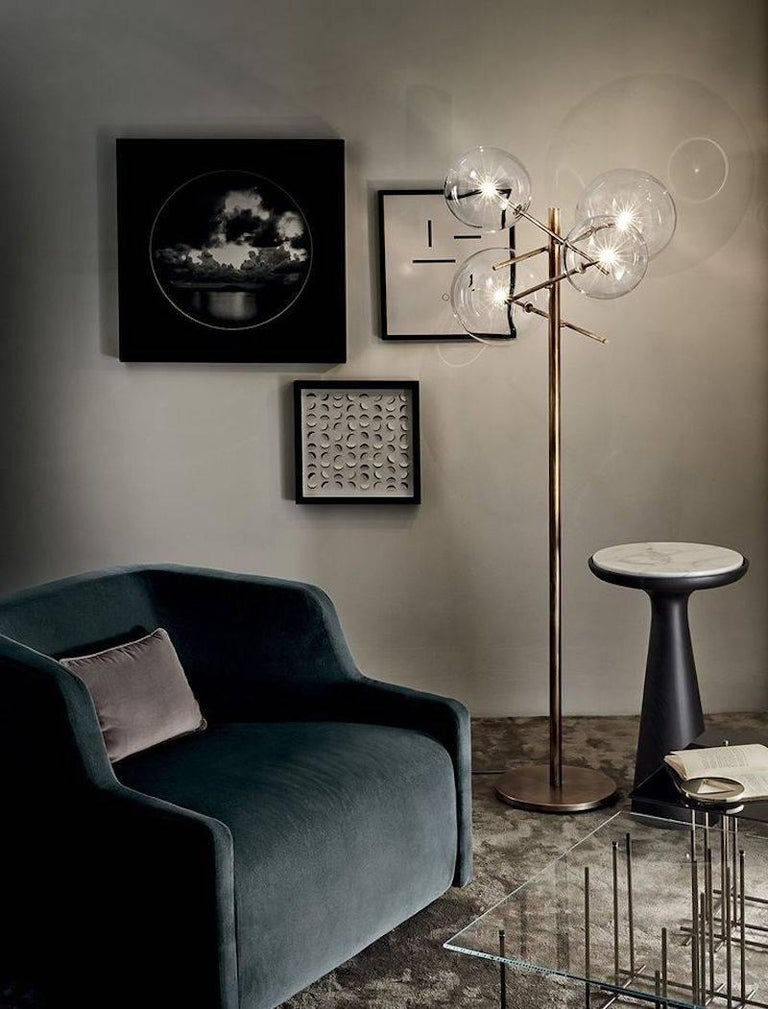 Italian Dama Side Table in Solid Wood and Marble by Gallotti & Radice For Sale