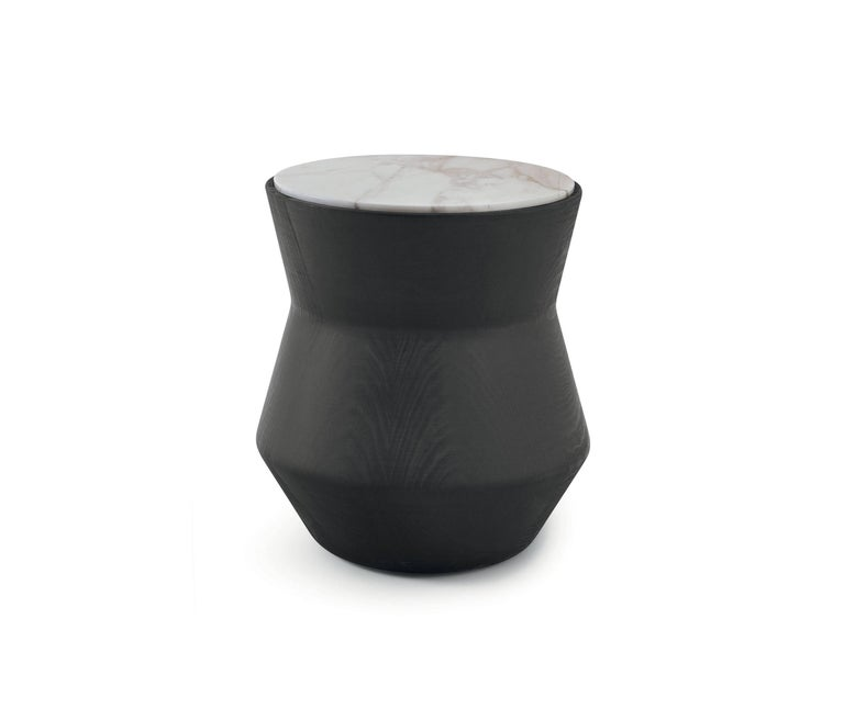Dama Side Table in Solid Wood and Marble by Gallotti & Radice For Sale 1