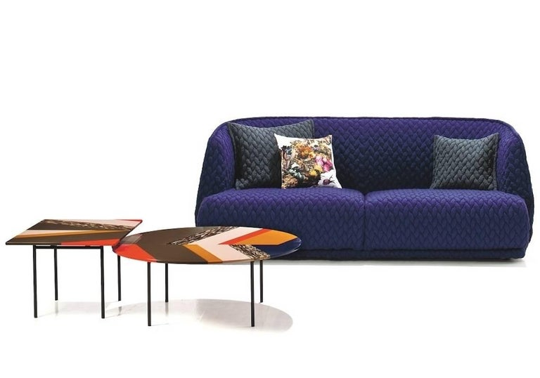 Moroso Redondo Sofa in Tufted Upholstery by Patricia Urquiola
