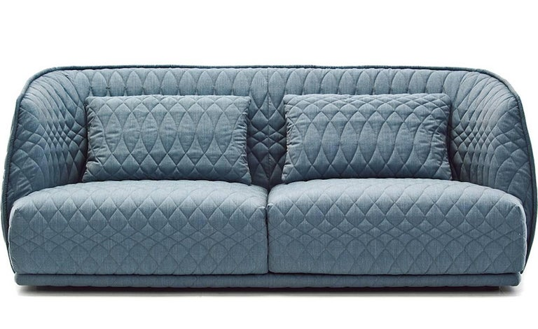 Contemporary Moroso Redondo Two-Seat Sofa in Tufted Upholstery by Patricia Urquiola For Sale