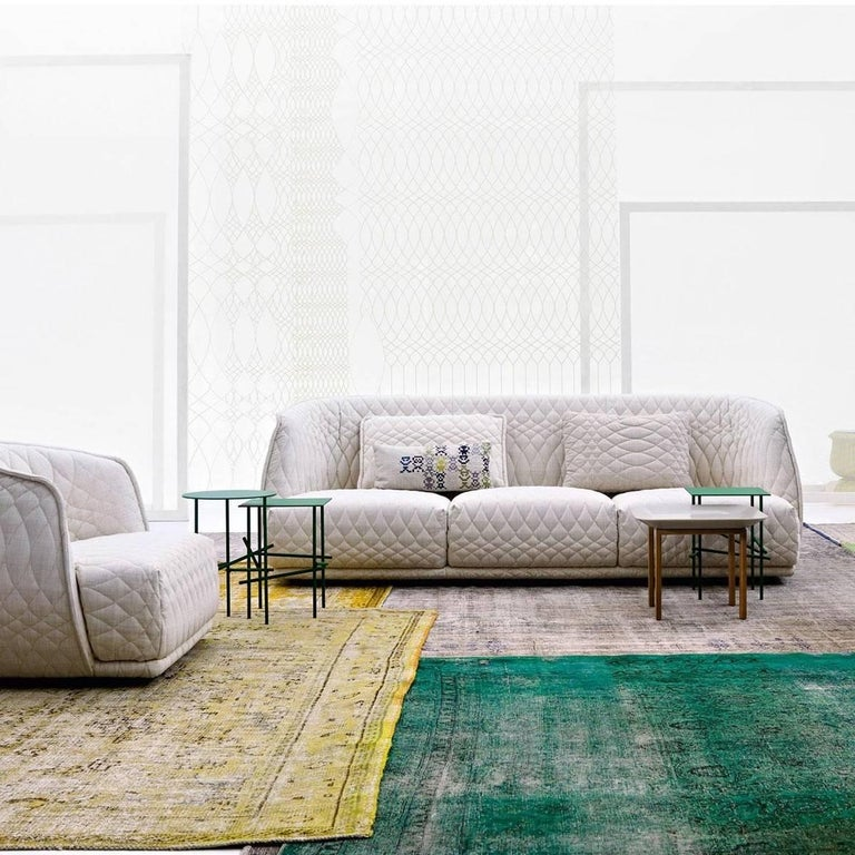 Quilted Moroso Redondo Three-Seat Sofa in Tufted Upholstery by Patricia Urquiola For Sale
