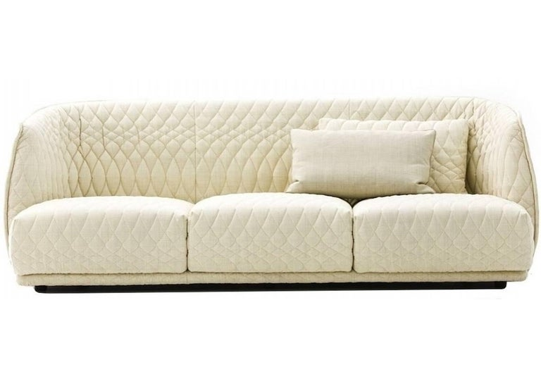 Fabric Moroso Redondo Three-Seat Sofa in Tufted Upholstery by Patricia Urquiola For Sale