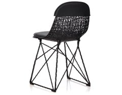 Moooi Carbon Fiber Dining Chair w/ Seat Pad and Cap