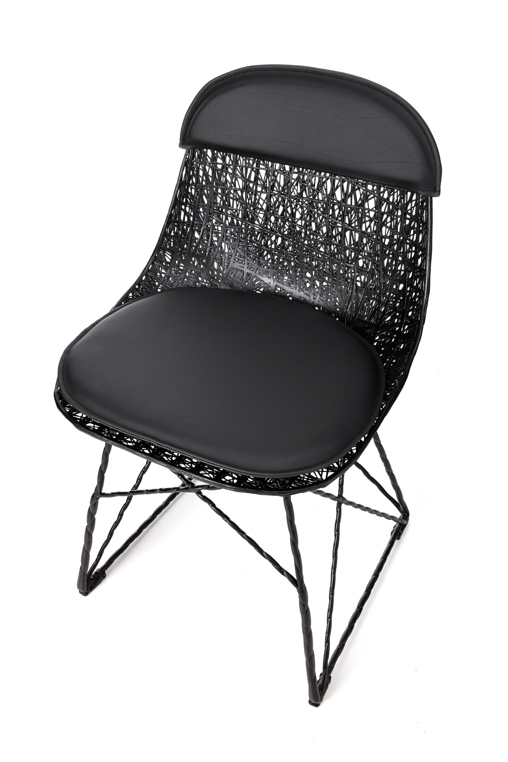 Exceptional Moooi Carbon Fiber Dining Chair With Seat Pad And Cap For Sale At 1stdibs