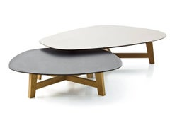 Moroso Phoenix Coffee Table w/ Wood Base & Various Color Top options
