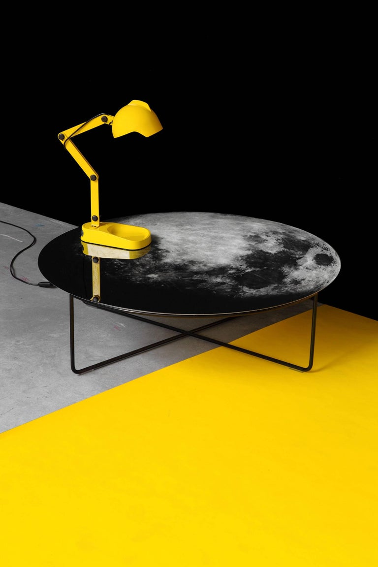 My Moon My Mirror Wall Hung Mirror by Moroso with Diesel in Printed Glass For Sale 2