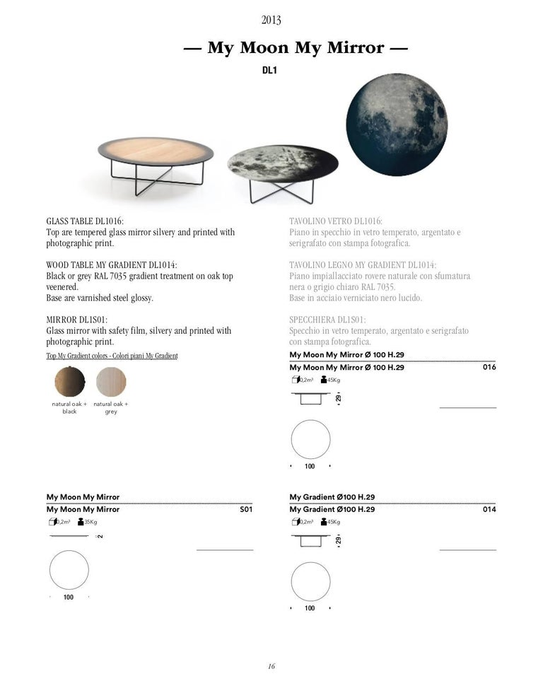 My Moon My Mirror Wall Hung Mirror by Moroso with Diesel in Printed Glass For Sale 3