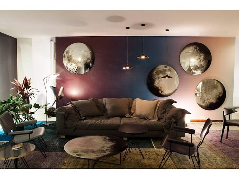 My Moon My Mirror Wall Hung Mirror by Moroso with Diesel in Printed Glass For Sale 1