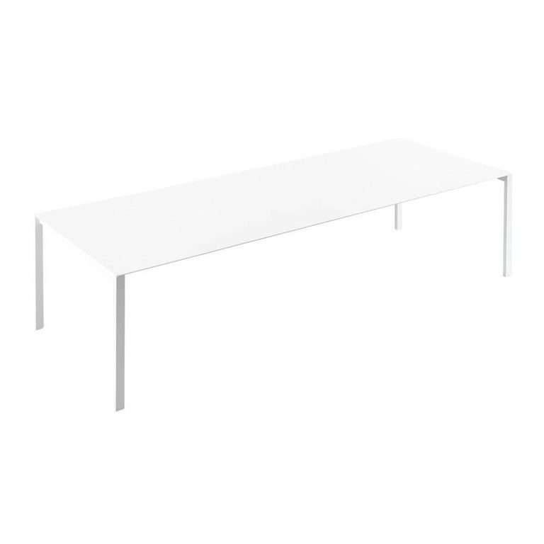 Kristalia ThinK IndoorOutdoor Dining Table In White Powder Coated - White metal outdoor dining table