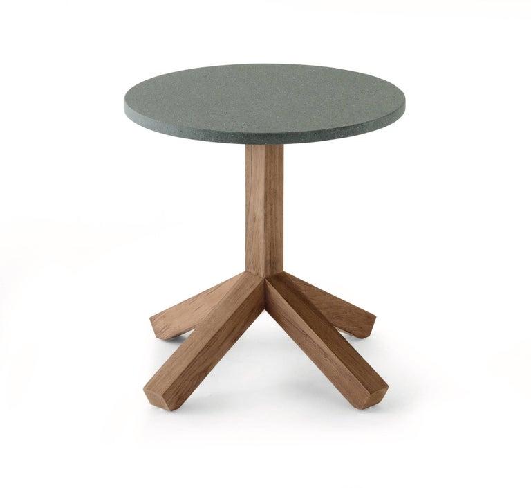 Grey Teak Coffee Table: Roda Root 045 Outdoor Side Or Coffee Table In Teak With