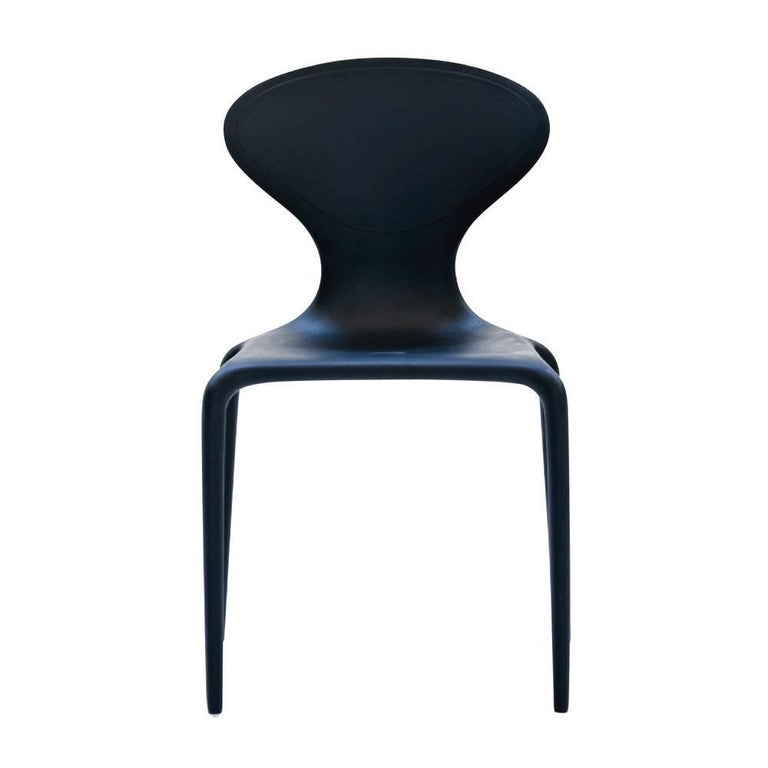 Set of Four Moroso Supernatural Chairs in Black/White for Indoor and Outdoor Use For Sale