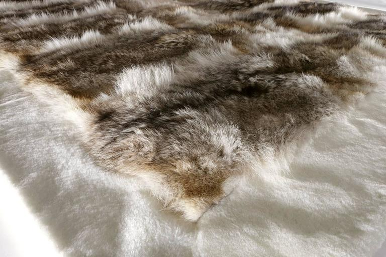 Shearling and Coyote Fur Rug 4