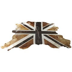 Union-Jag Flag Printed Cowhide, Chocolate and Caramel