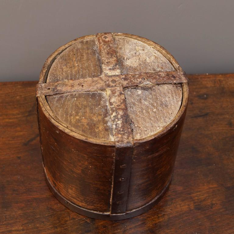 19th Century Half Grain Measure Oak Storage Container Victorian, circa 1840 5