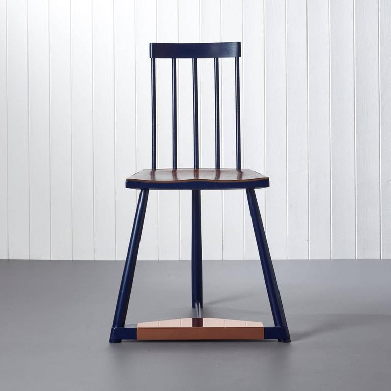 Handmade Chair in Leather and Copper by Pedro da Costa Felgueiras 2