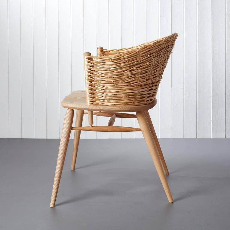 Handwoven Willow Ash Chair By Gareth Neal For Sale At 1stdibs