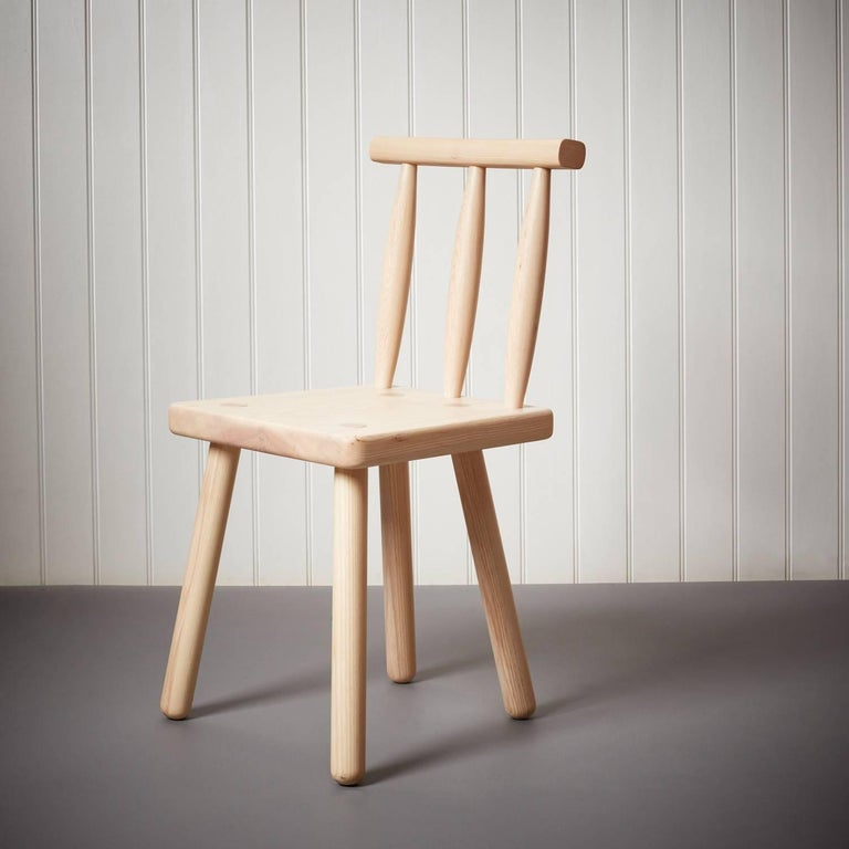Peggy is a contemporary version of a traditional Irish chair, and showcases simple, honest construction.  Made by traditional Windsor chair makers Sitting Firm in Coventry, the chair is ideal for use as a dining chair or side chair, and is