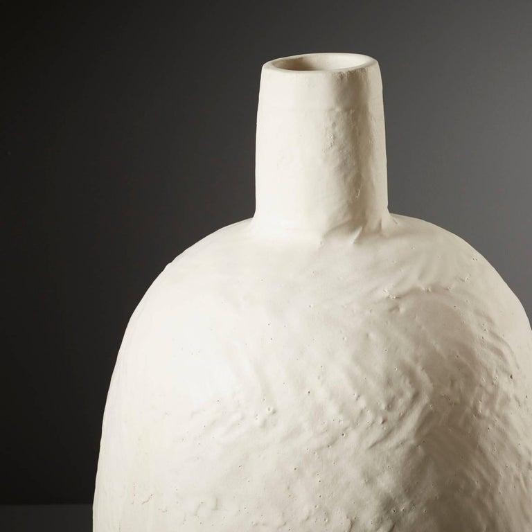 Large Handmade White Ceramic Stoneware Vase By Daniel Reynolds The