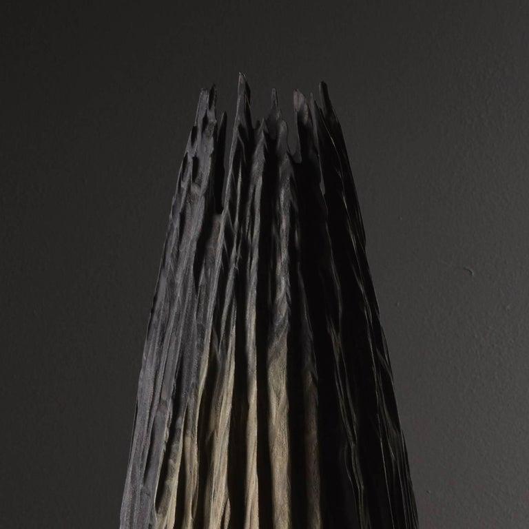 Wood Handmade Giant Redwood Black Basalte Vessel by Eleanor Lakelin For Sale