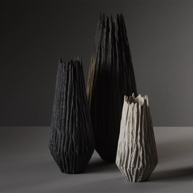 Handmade Giant Redwood Black Basalte Vessel by Eleanor Lakelin For Sale 1
