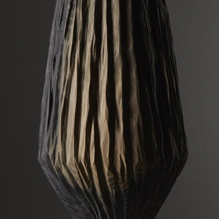 Contemporary Handmade Giant Redwood Black Basalte Vessel by Eleanor Lakelin For Sale