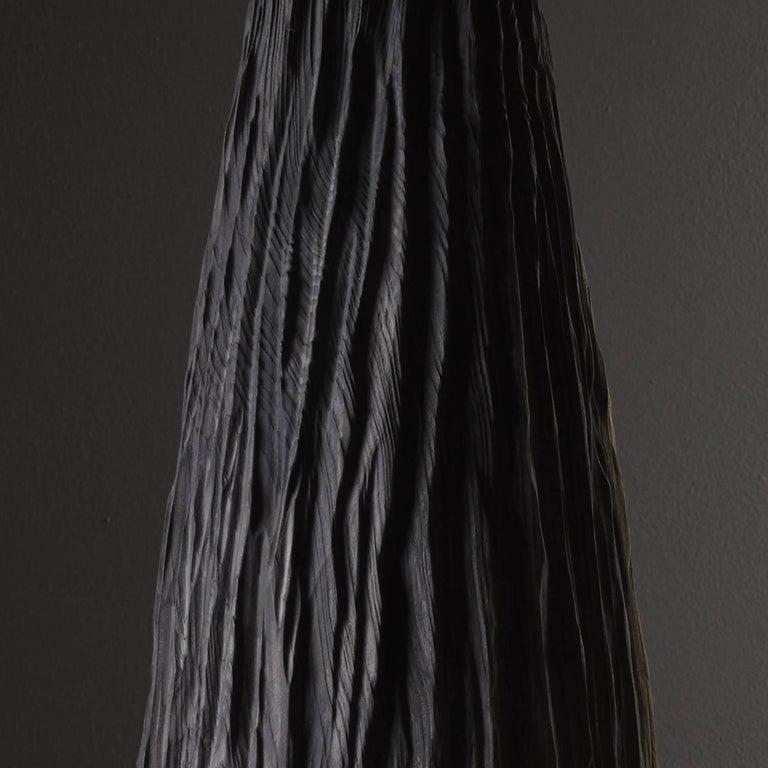 Modern Handmade Giant Redwood Black Basalte Vessel by Eleanor Lakelin For Sale