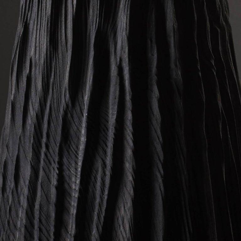 British Handmade Giant Redwood Black Basalte Vessel by Eleanor Lakelin For Sale