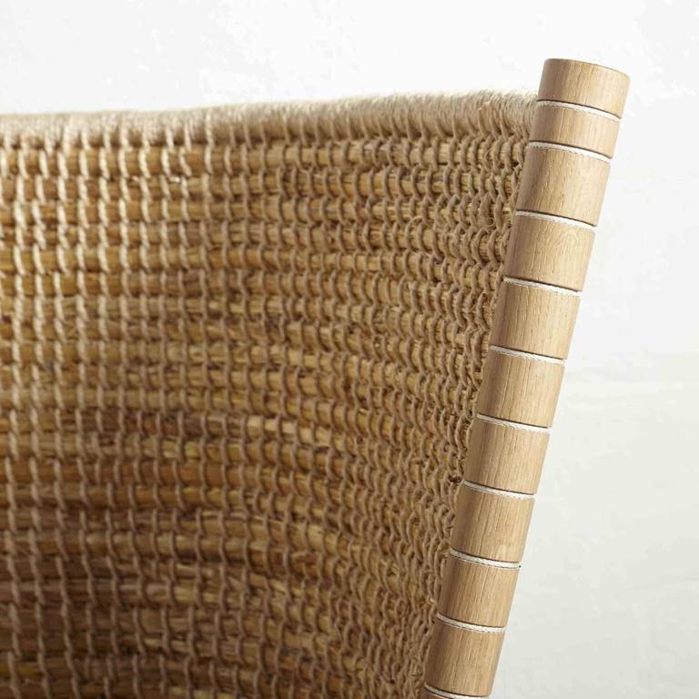 Handwoven Orkney Style Straw Brodgar Bench by Gareth Neal 7