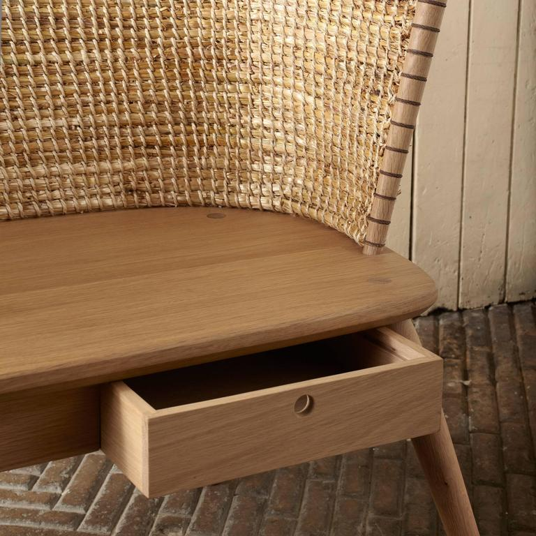 Handwoven Orkney Style Straw Brodgar Bench by Gareth Neal 4