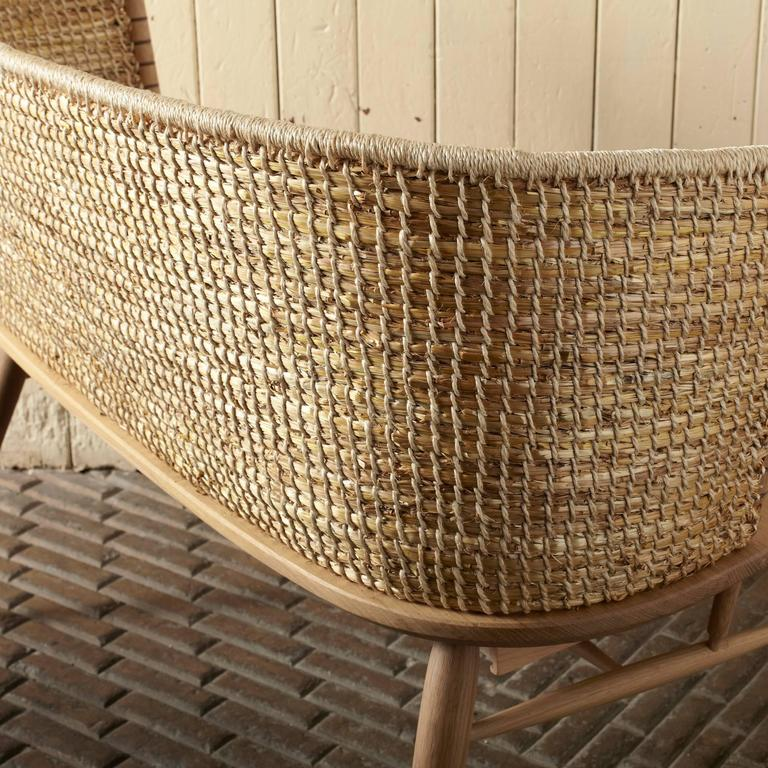 Handwoven Orkney Style Straw Brodgar Bench by Gareth Neal 3