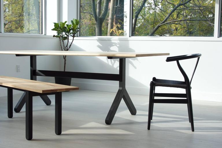 Modern Trestle Dining Table For Sale at 1stdibs
